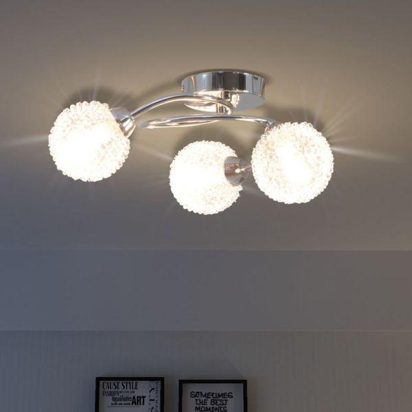 Lampă de plafon cu 3 becuri LED G9 120 W