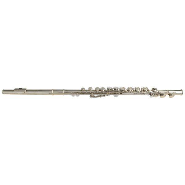 vidaXL Flaut cu 16 găuri cu toc moale, argintiu