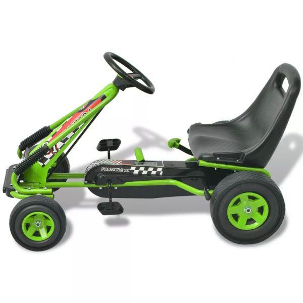 vidaX Kart cu pedale cu șezut reglabil verde
