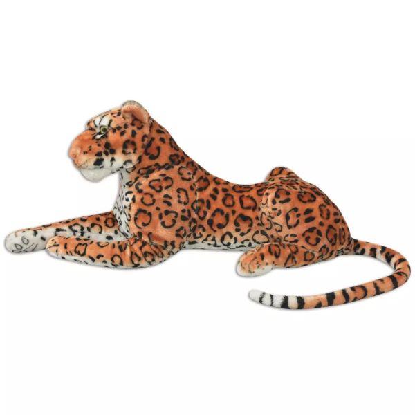 Leopard de jucărie din pluș maro XXL