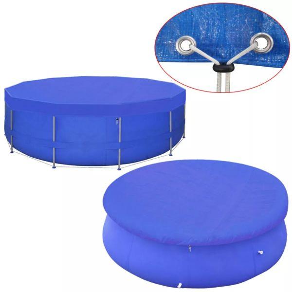 vidaXL Prelată piscină PE rotundă 540 cm 90 g/m²