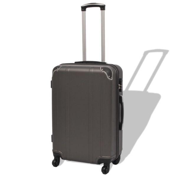 vidaXL Set de valize cu carcasă tare, antracit, 4 buc.