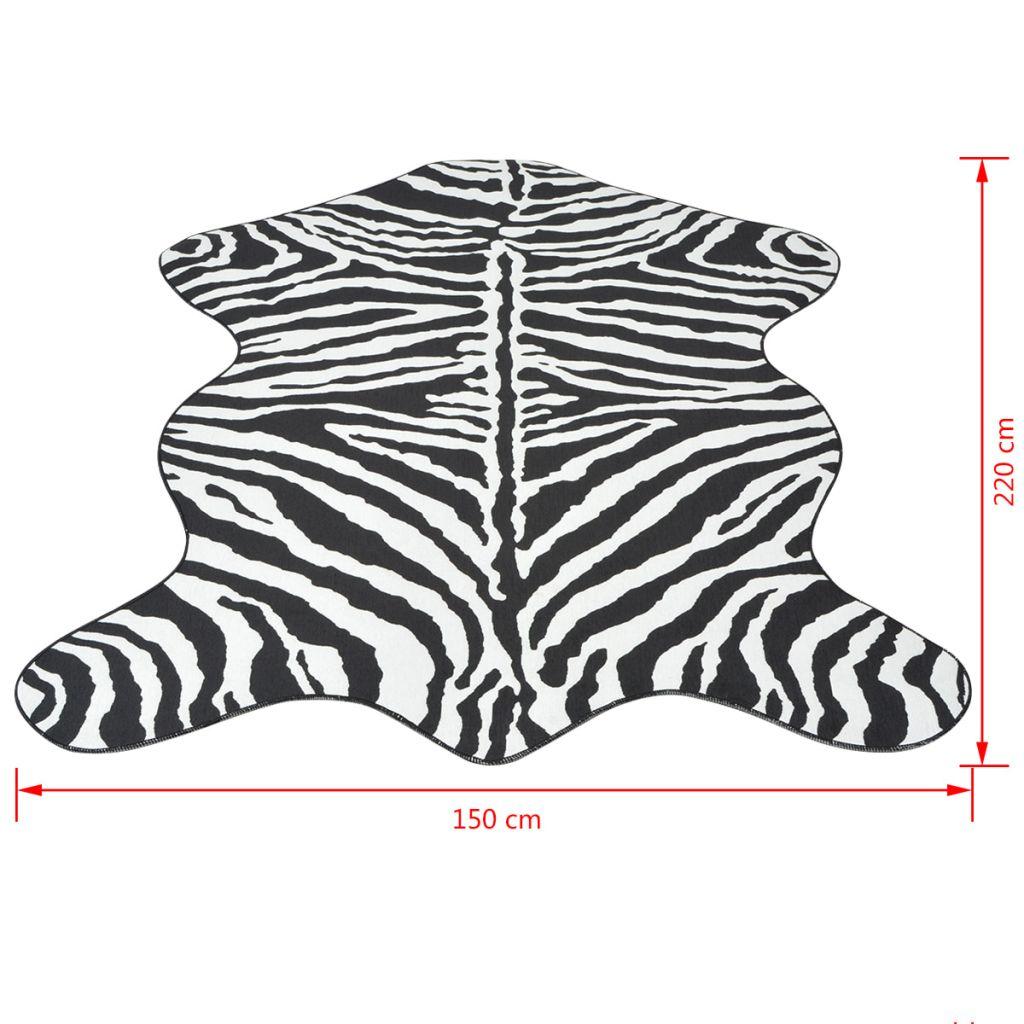 Covor decupat cu imprimeu zebră, 150 x 220 cm