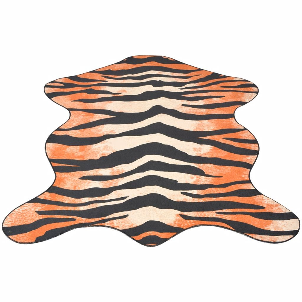 vidaXL Covor decupat cu imprimeu tigru, 70 x 110 cm