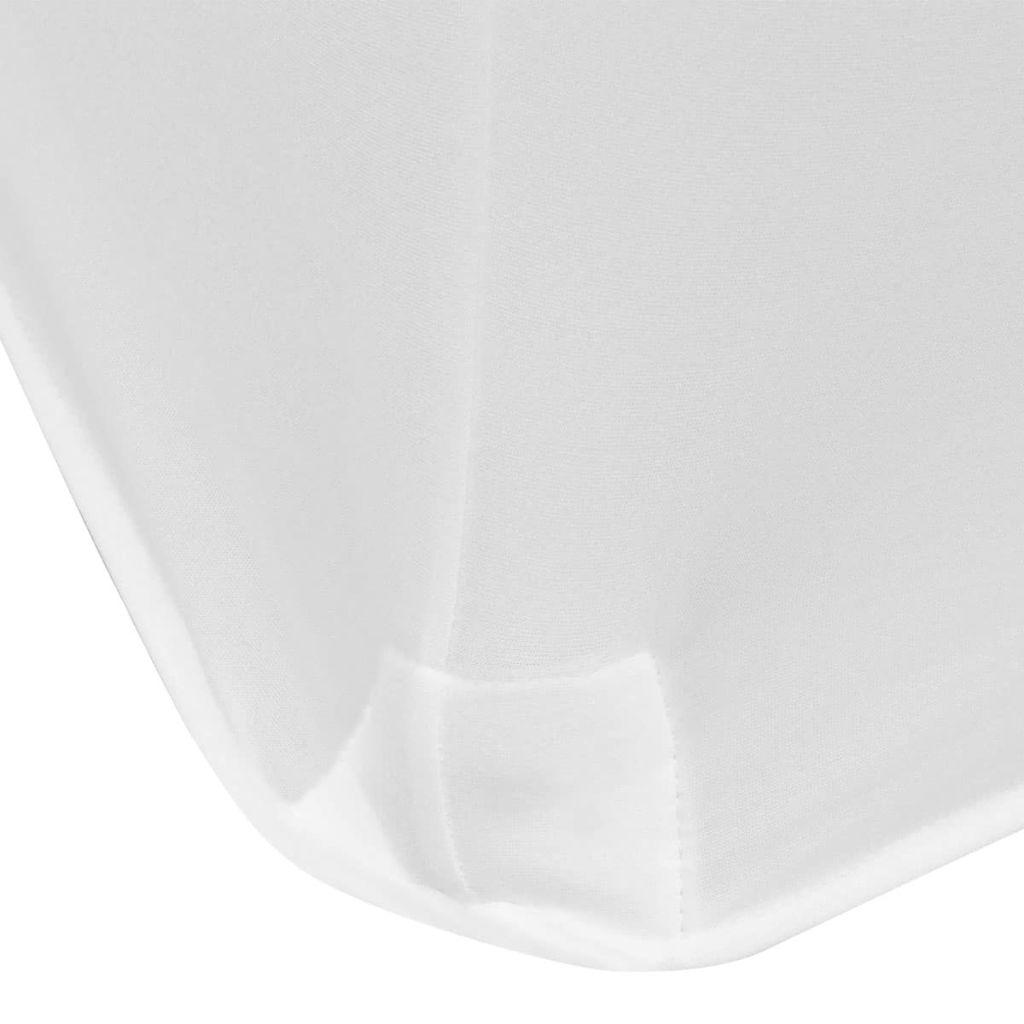 Huse elastice pentru masă, 243 x 76 x 74 cm, alb, 2 buc.