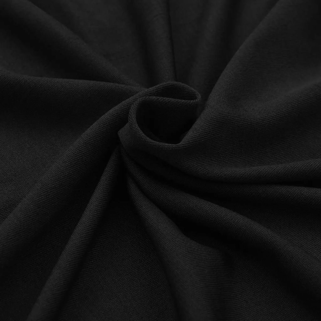 Huse elastice pentru masă, 120 x 60,5 x 74 cm, 2 buc, negru