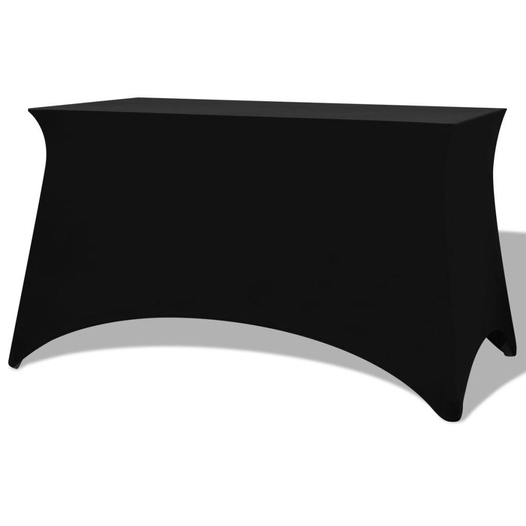 vidaXL Huse de masă elastice, 183 x 76 x 74 cm, 2 buc., Negre
