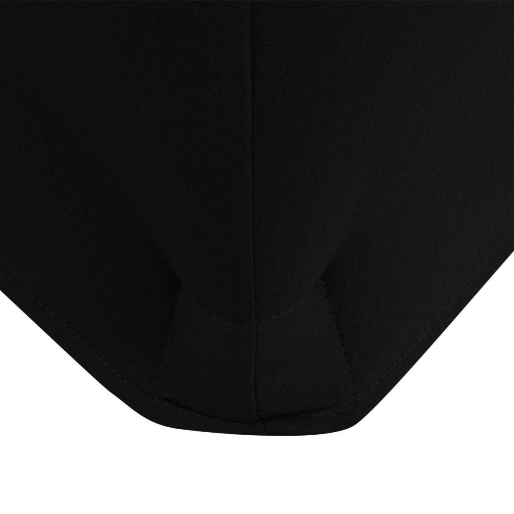 Huse de masă elastice, 183 x 76 x 74 cm, 2 buc., Negre