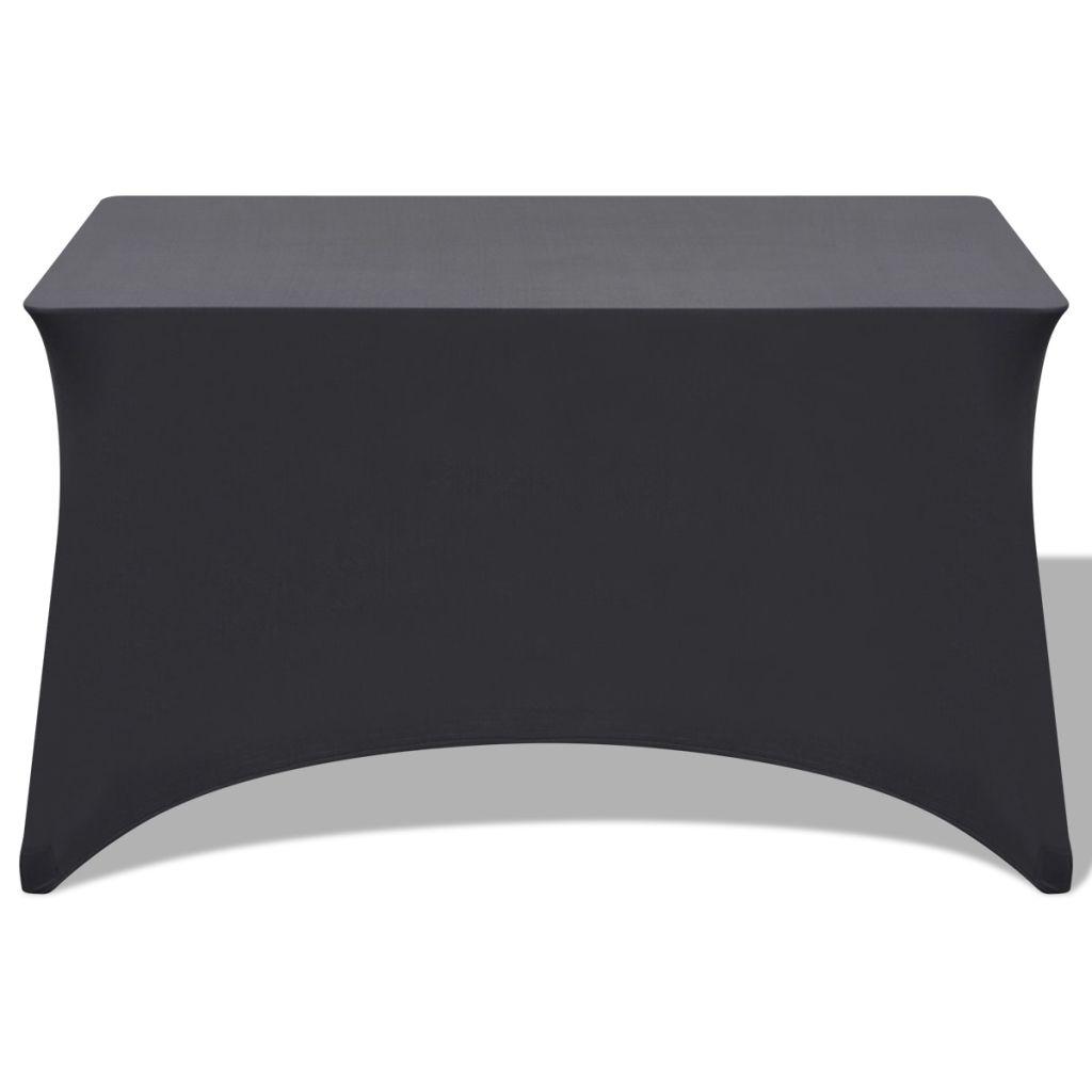Huse de masă elastice, antracit, 183 x 76 x 74 cm , 2 buc.