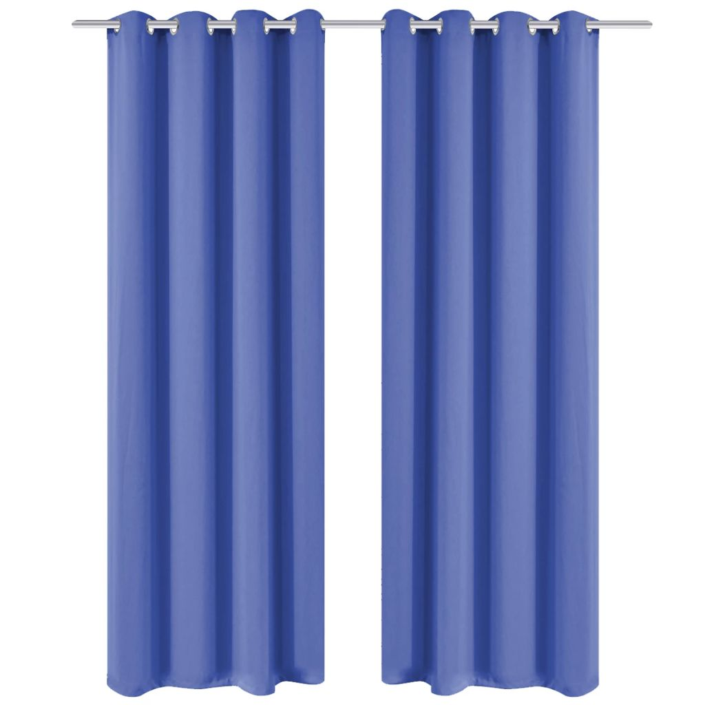 vidaXL Draperie opacă, ocheți metalici, 270 x 245 cm, albastru