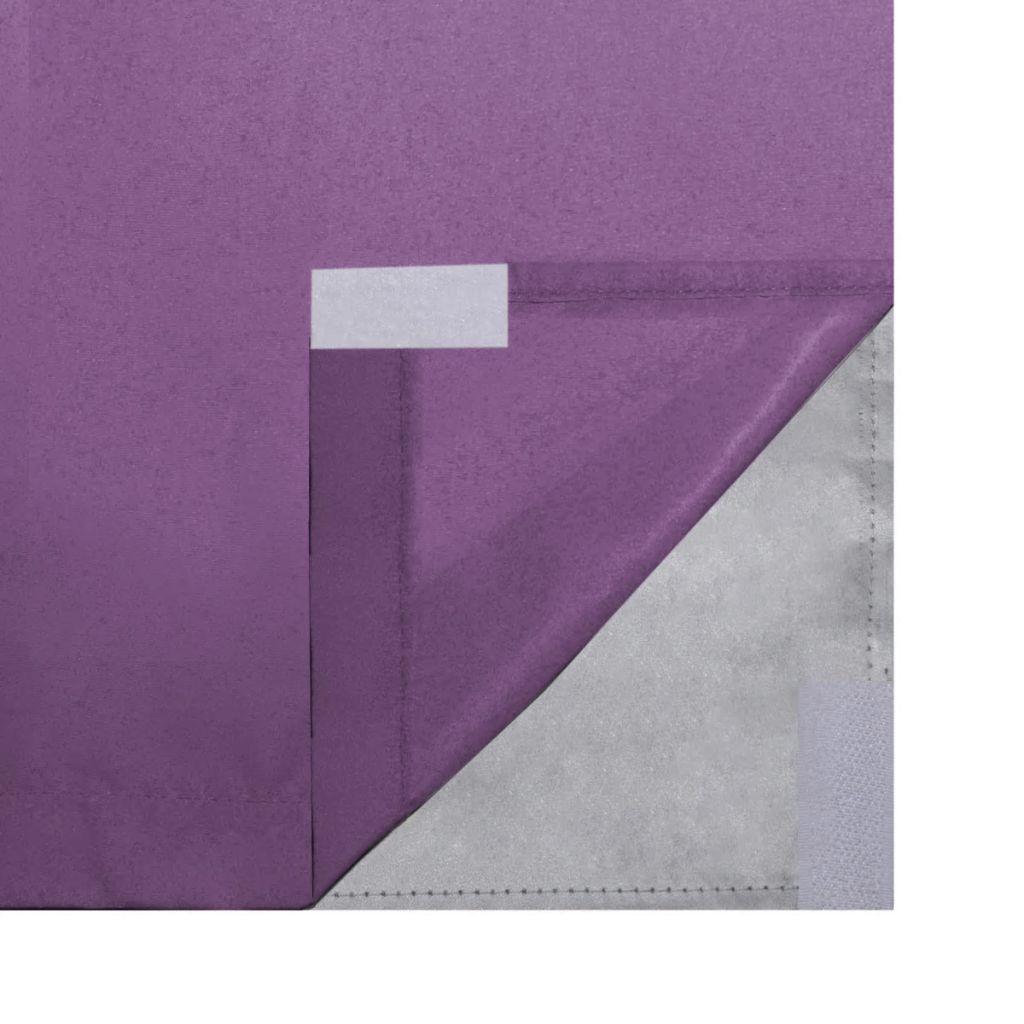 Draperii opace, 2 buc., strat dublu, 140 x 175 cm, violet