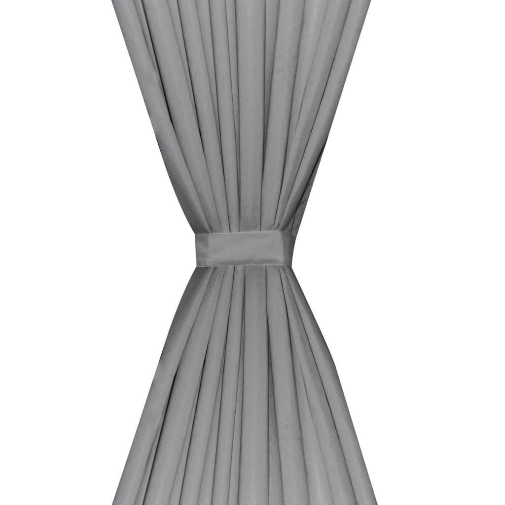 vidaXL Draperii opace, 2 buc., strat dublu, 140 x 245 cm, gri