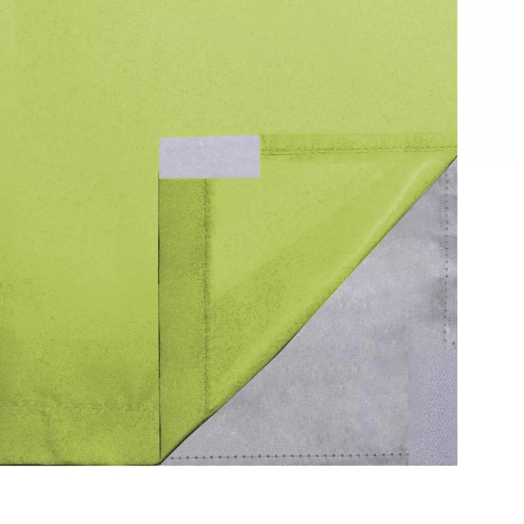 Draperii opace, 2 buc., strat dublu, 140 x 245 cm, verde