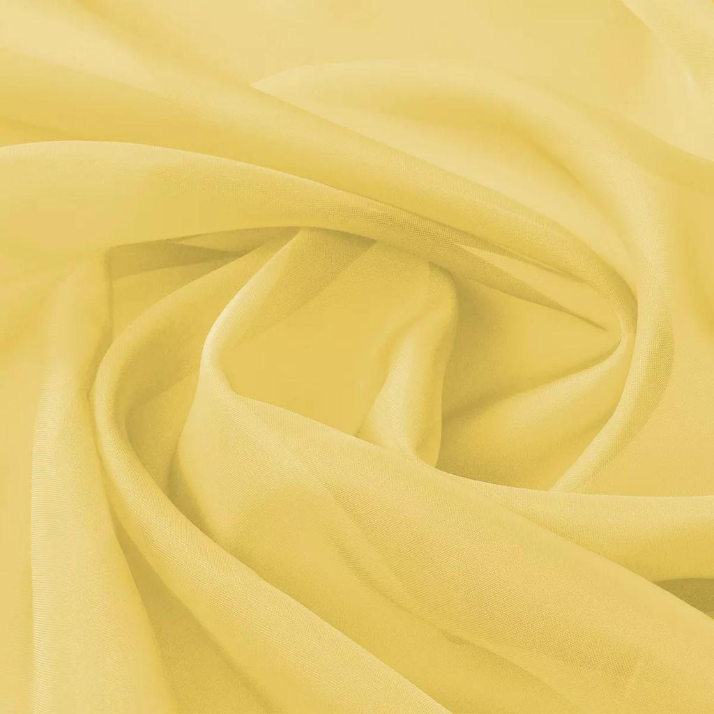 vidaXL Țesătură din voal 1,45 x 20 m, galben