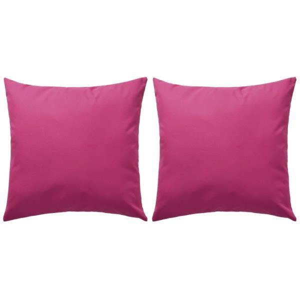 vidaXL Perne de exterior, 2 buc., roz, 45 x 45 cm