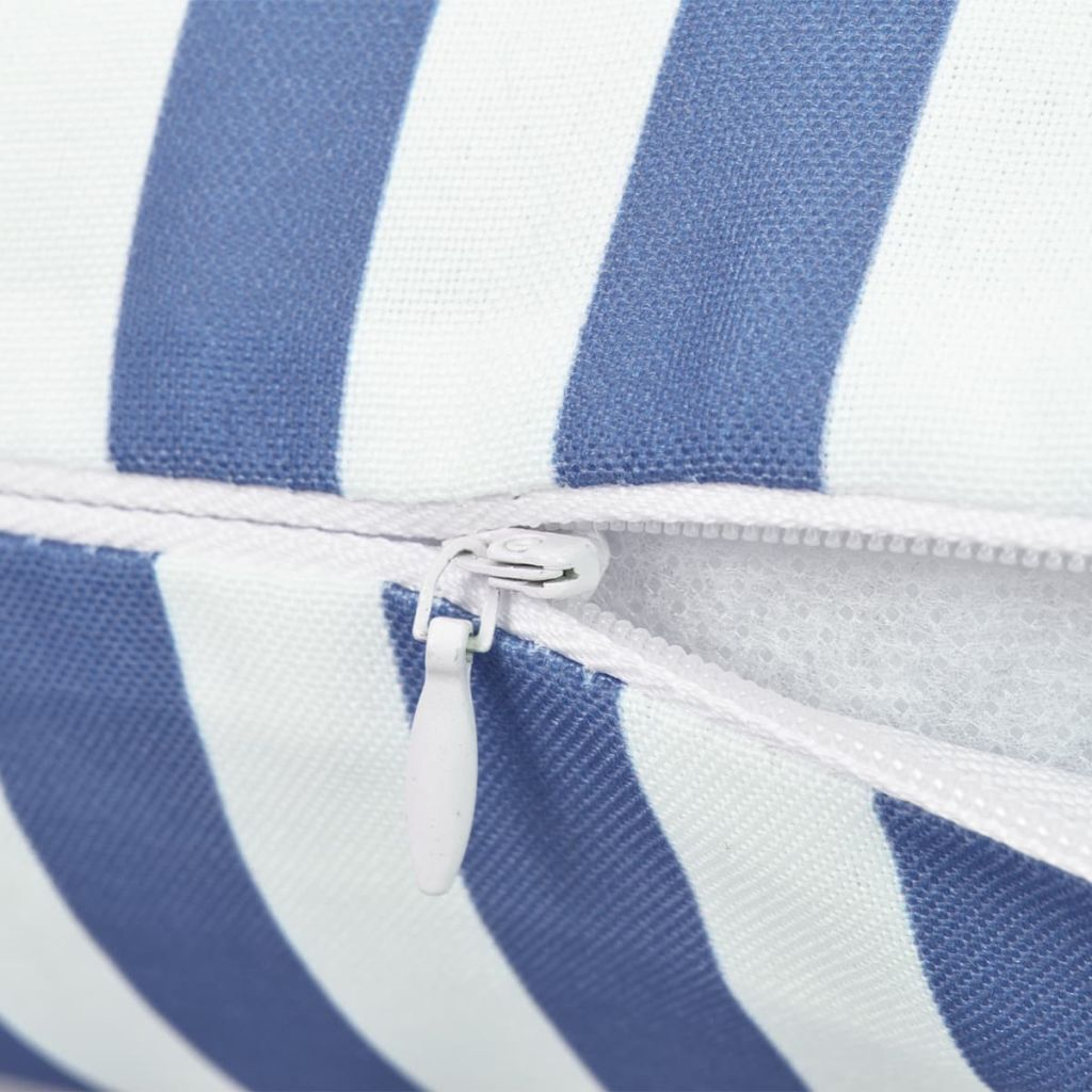 Perne de exterior, 2 buc., bleumarin, 60×40 cm, imprimeu dungi
