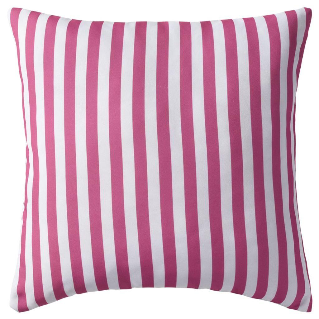 Perne de exterior, 2 buc., roz, 45×45 cm, imprimeu dungi
