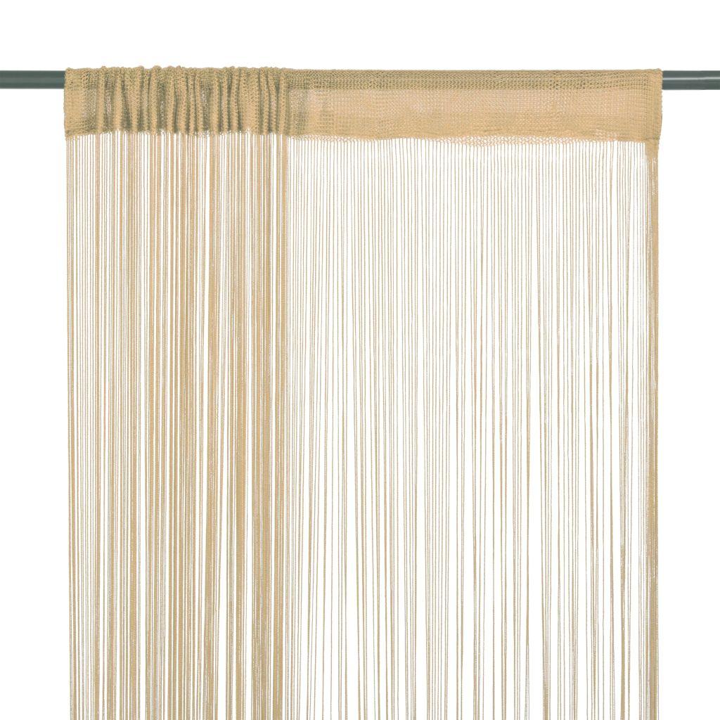vidaXL Draperii cu franjuri, 2 buc., 140 x 250 cm, bej