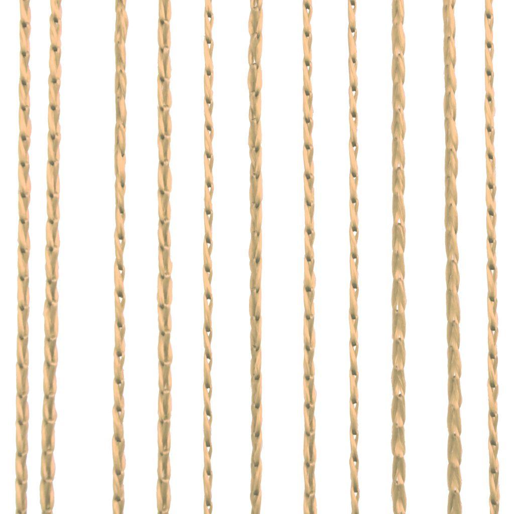 Draperii cu franjuri, 2 buc., 140 x 250 cm, bej