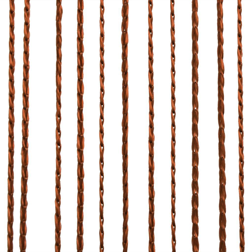 Draperii cu franjuri, 2 buc., 140 x 250 cm, maro