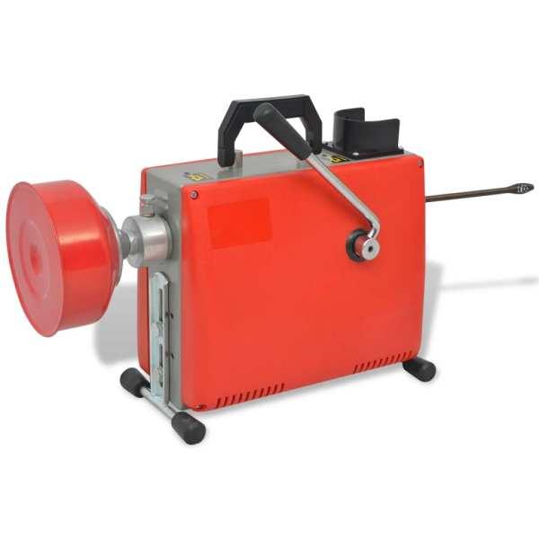 Mașină de curățat țevi, 250 W, 15 m x 16 mm, 4,5 m x 9,5 mm
