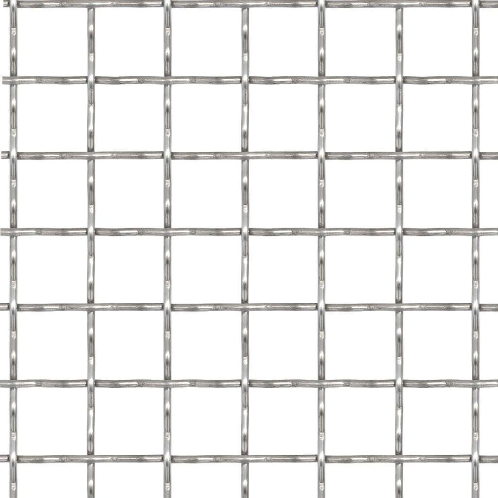 Gard de sârmă sertizată, 100×85 cm, 11x11x2 mm, oțel inoxidabil