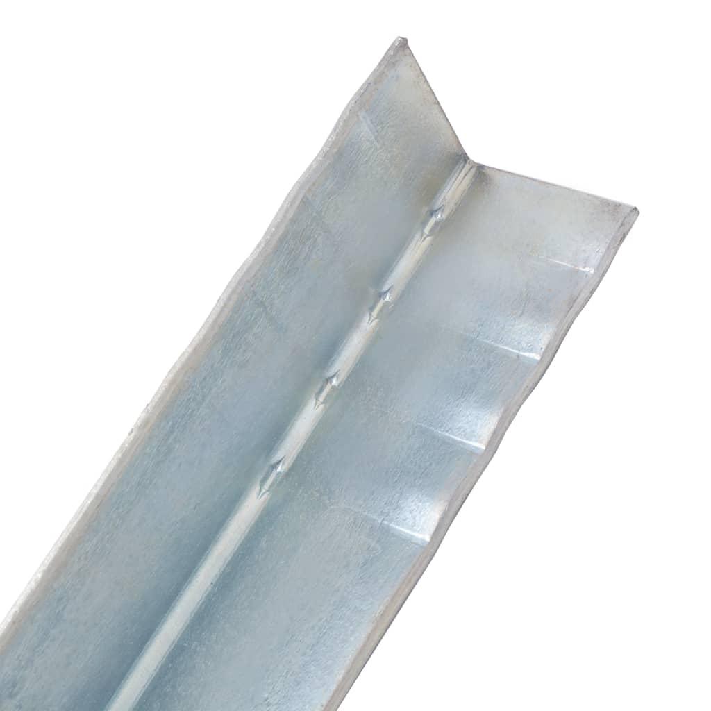 Ancore de sol în formă de L, 2 buc, oțel galvanizat, 5x5x50 cm