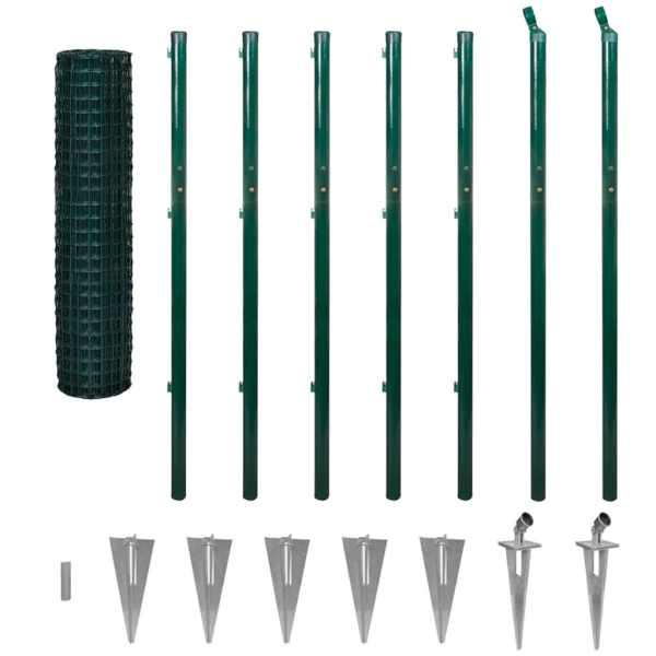 Euro gard, verde, 10 x 1,96 m, oțel