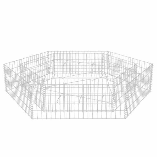 Strat înălțat gabion hexagonal, 200 x 173 x 40 cm