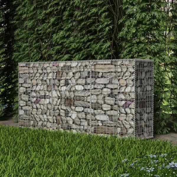 vidaXL Coș gabion, 200 x 50 x 100 cm, oțel galvanizat