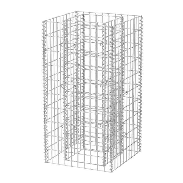 Strat înălțat gabion, 50 x 50 x 100 cm, oțel