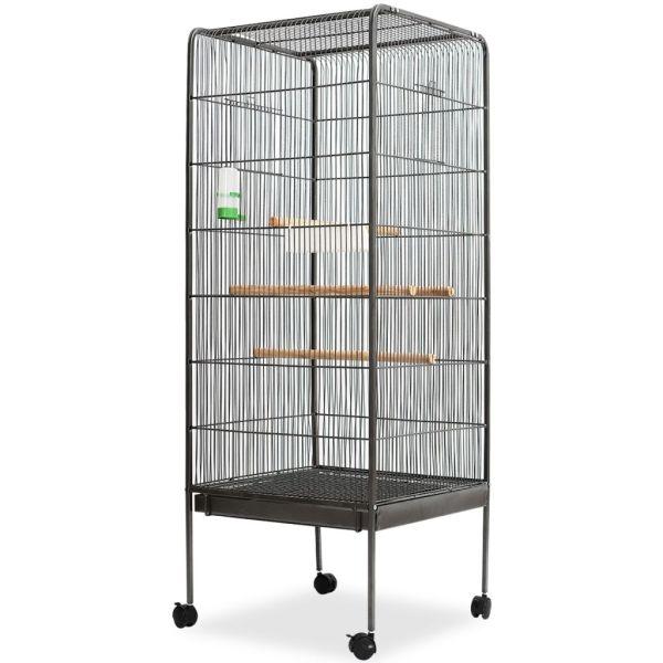 vidaXL Colivie de păsări, 54 x 54 x 146 cm, oțel