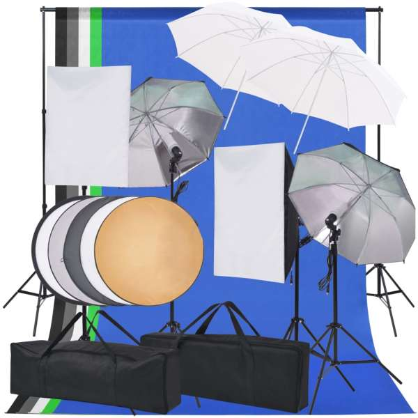 vidaXL Kit de iluminat pentru studio foto