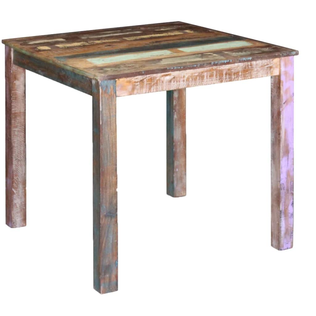 vidaXL Masă de bucătărie din lemn masiv reciclat, 80 x 82 x 76 cm