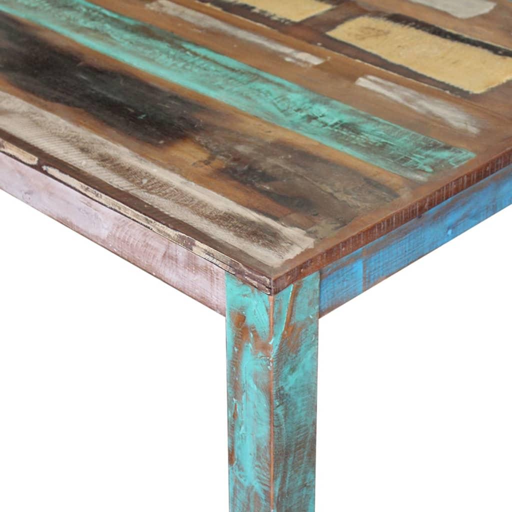 Masă de bucătărie din lemn masiv reciclat, 80 x 82 x 76 cm