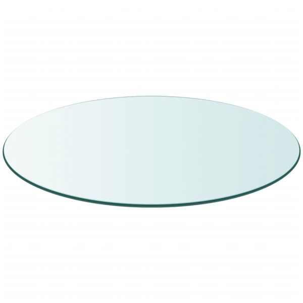 Blat masă din sticlă securizată rotund 800 mm