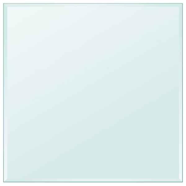 vidaXL Blat de masă din sticlă securizată pătrat 700 x 700 mm