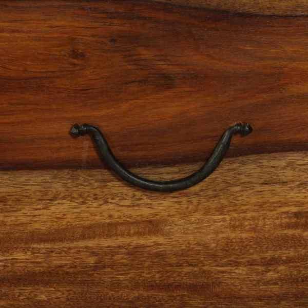 vidaXL Cufăr de depozitare, lemn masiv de sheesham, 90 x 50 x 35 cm