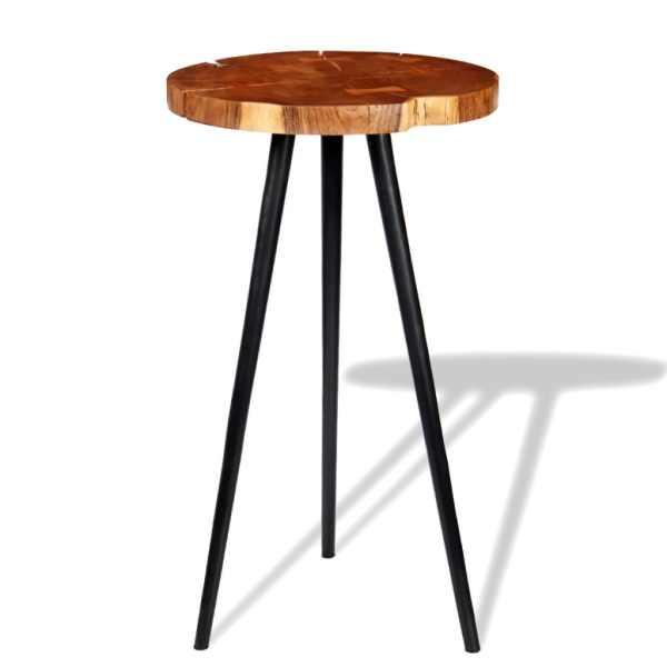 vidaXL Masă bar model bușteni, lemn masiv de acacia (55-60) x 110 cm