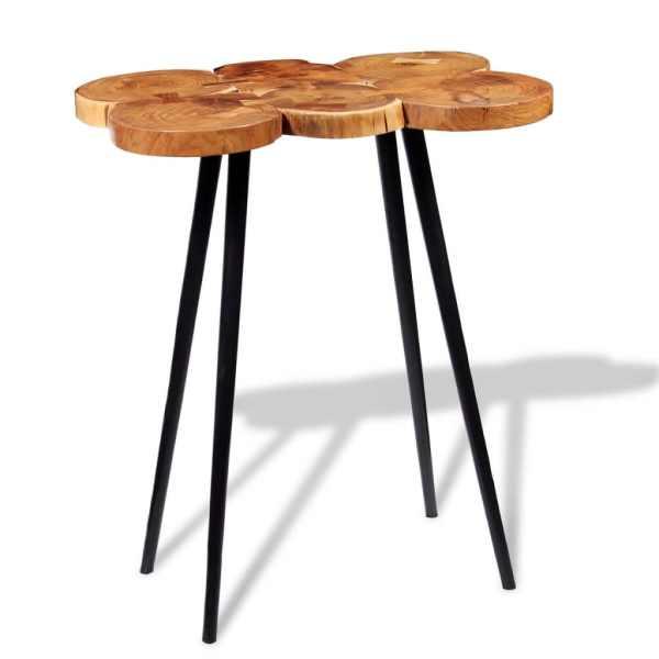 vidaXL Masă bar lemn masiv de salcâm, model bușteni 90x60x110 cm