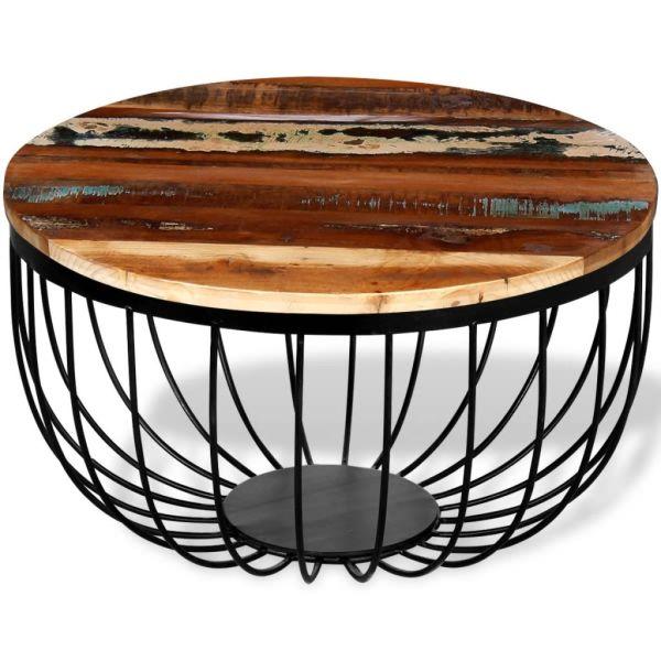 vidaXL Masă de cafea din lemn reciclat de esență tare