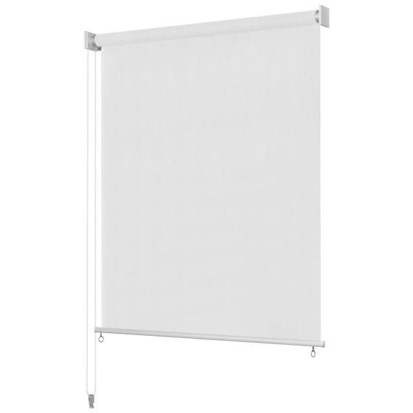 vidaXL Jaluzea tip rulou de exterior, 160 x 230 cm alb