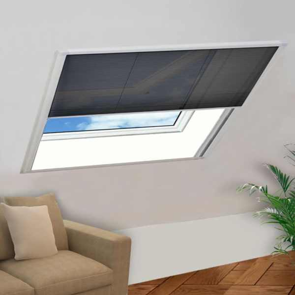 vidaXL Ecran insecte pentru ferestre, aluminiu, 120×120 cm