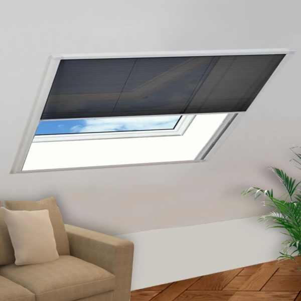 vidaXL Ecran insecte pentru ferestre aluminiu, 130×100 cm