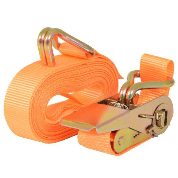 Chingi fixare cu clichet, 10 buc, 0,4 tone, 6mx25mm, portocaliu