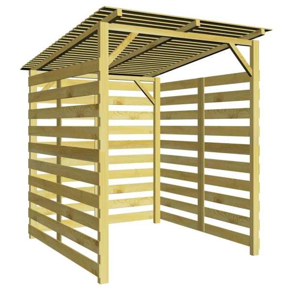vidaXL Magazie de depozitare pentru lemne de foc, lemn de pin tratat
