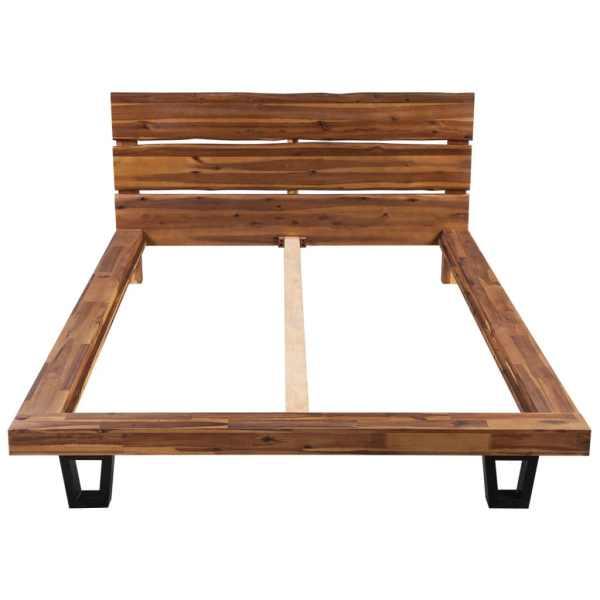 vidaXL Cadru de pat din lemn masiv de acacia 180 x 200 cm