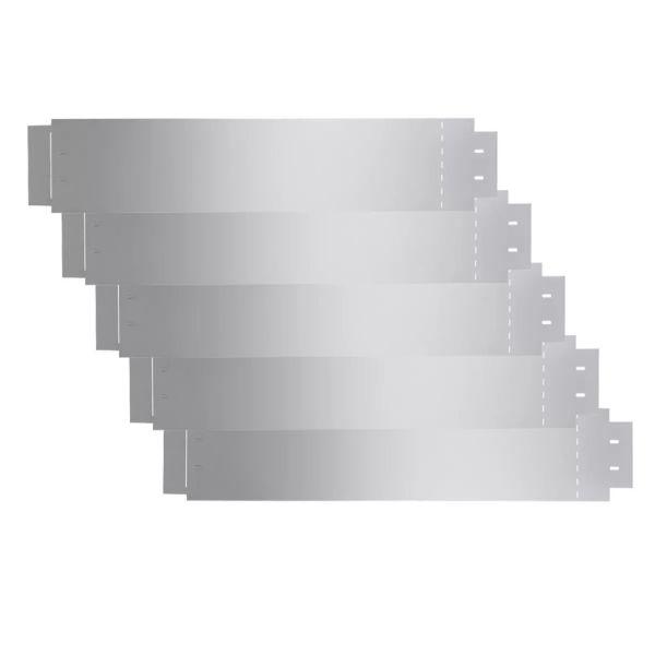 142668 vidaXL Garduri de gazon, 5 buc, oțel galvanizat, 100 x 20 cm