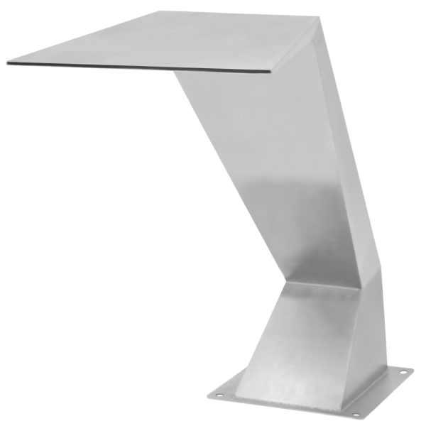 Fântână de piscină, argintiu, 64x30x52 cm, oțel inoxidabil