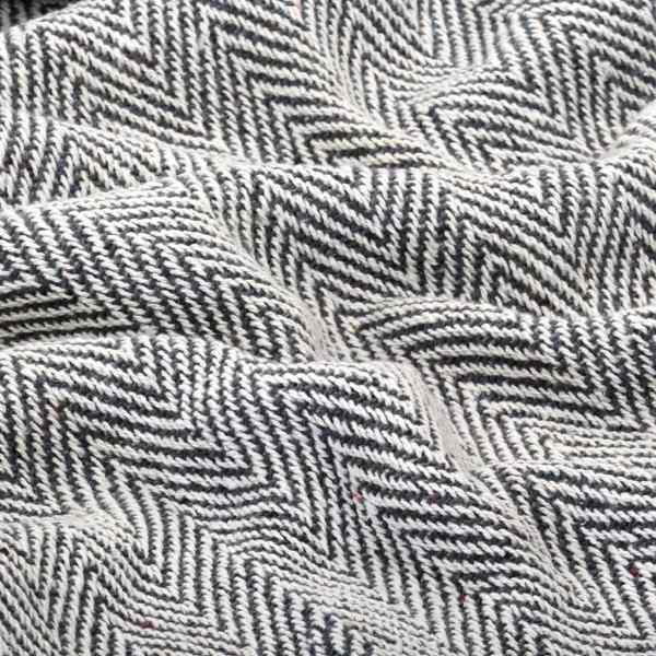 vidaXL Pătură decorativă model spic, bumbac, 220 x 250 cm, bleumarin
